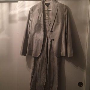 Lightweight pinstripe suit